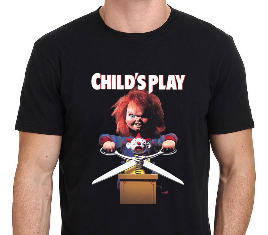 3eb2a294 Chucky Childs Play 2 Vintage Movie Horror Men's Black T-Shirt Size S-to-XXL