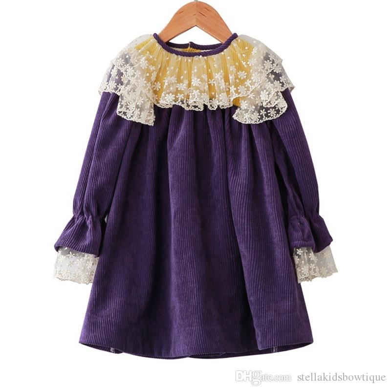 18f4c2bb1f 2019 2019 Spring And Autumn New Sweet Children S Skirt Girls Skirt  Children S Corduroy Dress Children S Clothing From Stellakidsbowtique