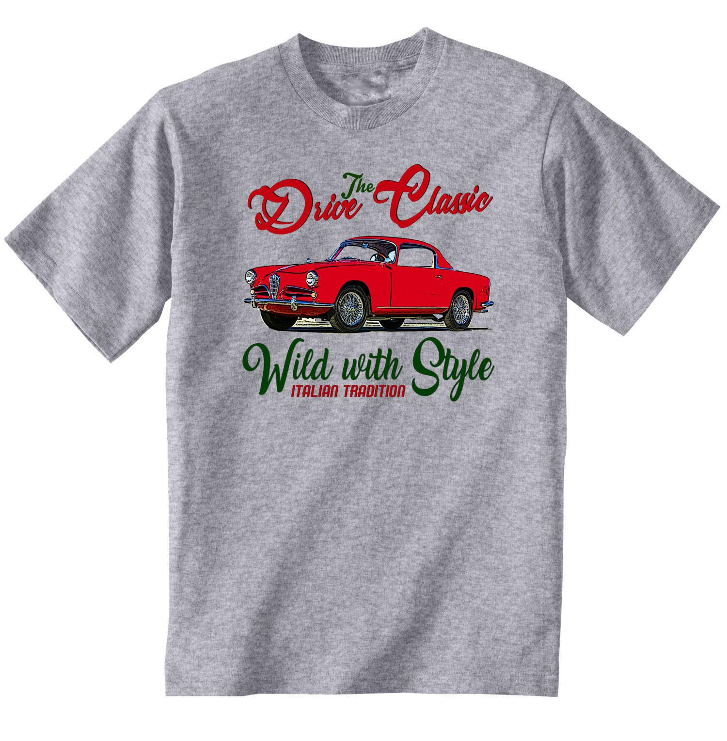 Vintage Italian Car Alfa Romeo 1900 Super Sprint New Cotton T