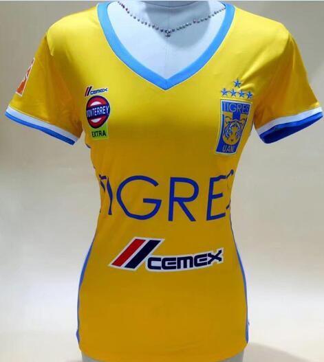 2017 2018 Women Tigres UANL Home Yellow Soccer Jersey 17 18 Tigres Female  Away Black Soccer Shirt Customized Girl Football Uniform Sales UK 2019 From  ... e48c3ecbf