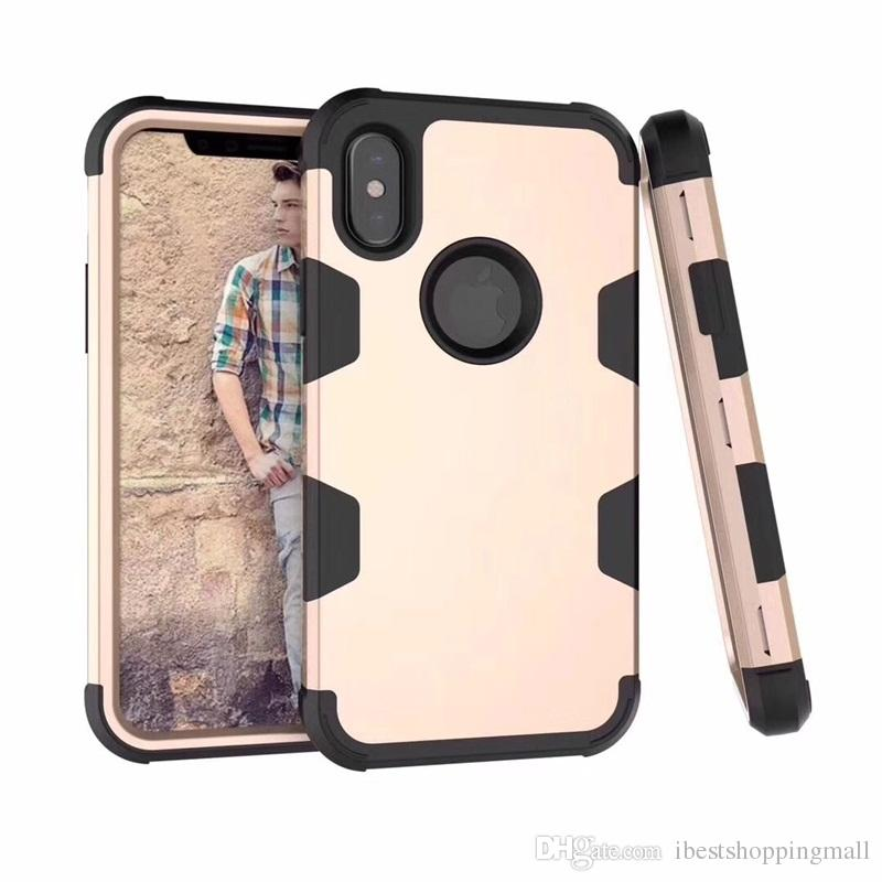 High Quality 3 in 1 Hybrid Robot TPU Commuter Defender Armor Case Cover For iPhone X Xr Xs Max 8 7 6 6S Plus S10e S10P S8 S9 Plus Note 9 8