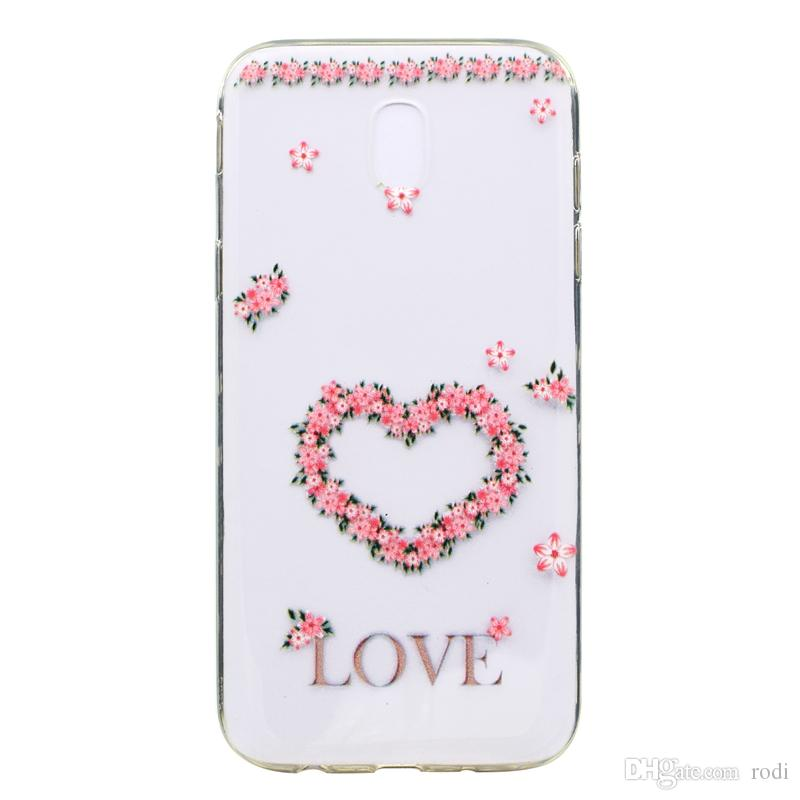for samsung J3 J5 J7 2017phone case Back Cover Soft TPU painting Transparent Shell shockproof Dust Proof The manufacturer can customize it