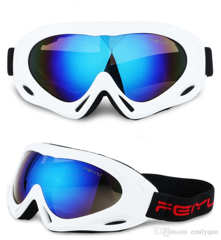 Men Women Ski Goggles Anti Fog Glasses Children Snowboard Goggles Motorcycle Glasses Outdoor Sports Windproof Snow Glasses Eyewear with Box