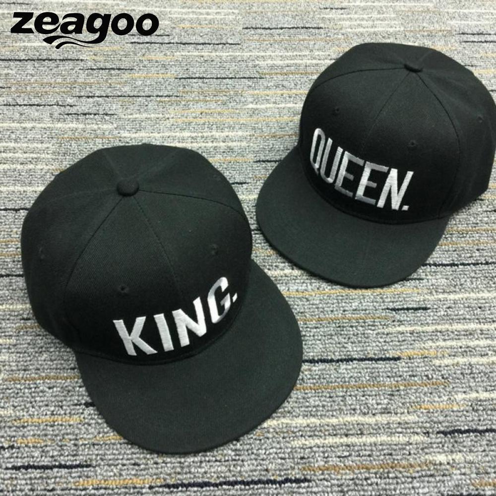 7e4bae63d7f Zeagoo Hip Hop Cap QUEEN Couple Hat KING Casual Adjustable Baseball Cap  Gifts Women Men Fashion Snapback Baseball Caps Custom Hat Caps For Men From  Yongq