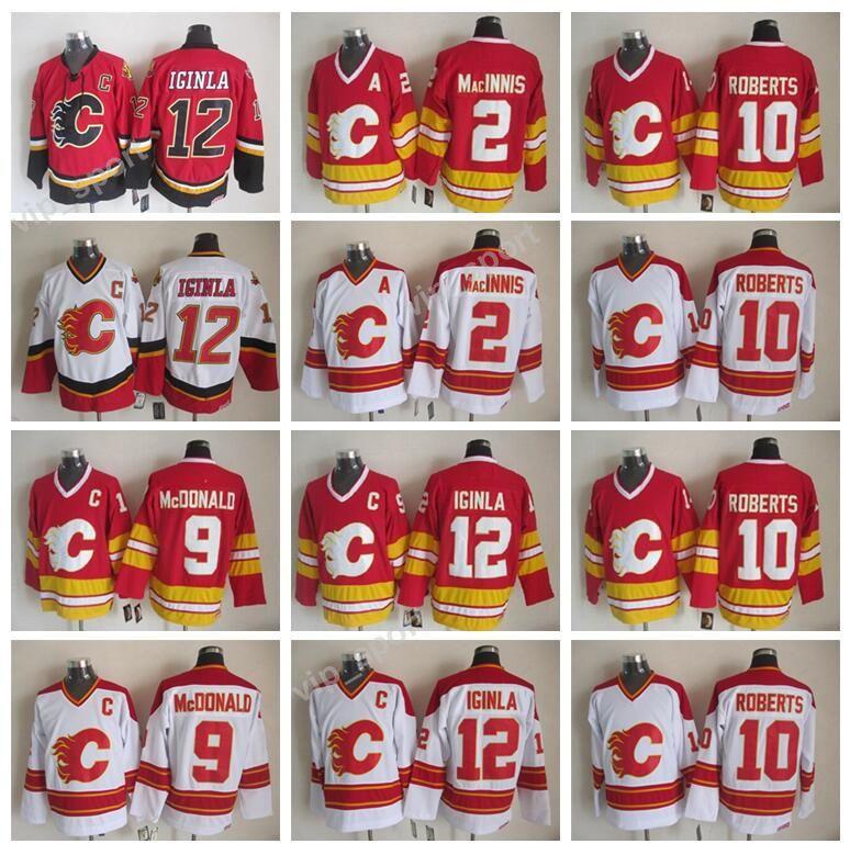 a0e0698d994 2019 Men 12 Jarome Iginla Jersey Calgary Flames Ice Hockey 2 Al Macinnis 9  Lanny McDonald 10 Gary Roberts Jerseys Sewing Red White From Vip_sport, ...