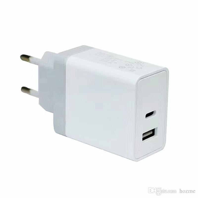 PD Power Adapter TWO Ports Type C And USB Charger Wall Charger Station