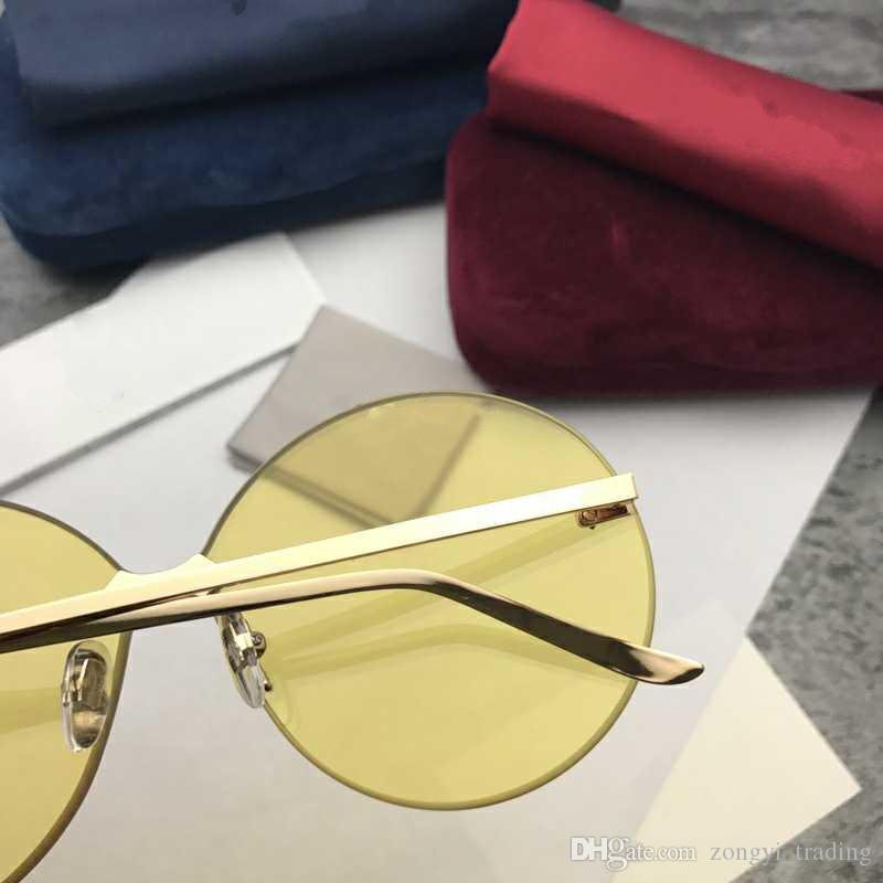 0353S neue Qualitäts-Luxus-Designer-Mode 5.0 Dicken Objektiv-Frauen-Sonnenbrille Männer UV400 Schutz mit ursprünglichem Kasten 0353