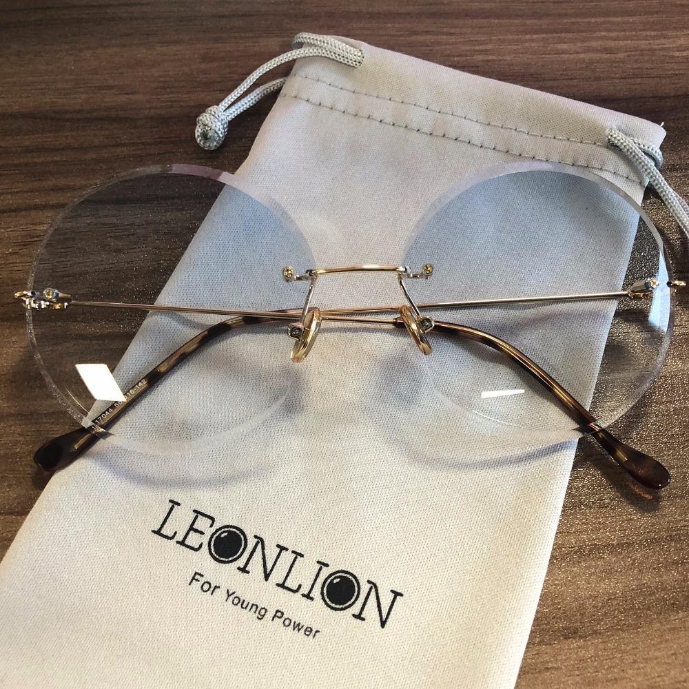 8c923504e7 LeonLion 2018 Metal Goggle Rimless Sunglasses Women Ocean Lens Classic  Brand Designer Men Women HD Sun Glasses Women UV400 Box C18110601 Online  with ...