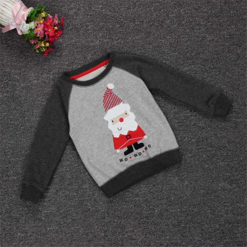 ca0b5741076 Christmas Baby T-shirts Santa Claus Print Pullover Sweaters Kids ...