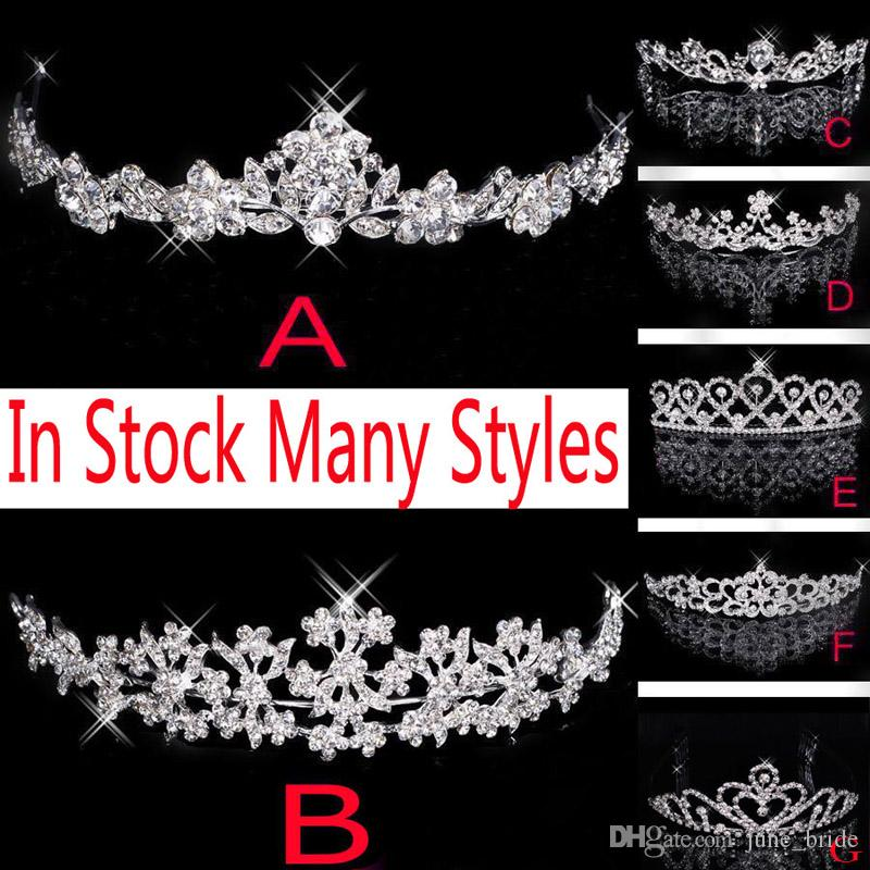 In Stock 2018 Stylish Bridal Crown Royal Wedding Tiara Hot Sell Party Pageant Headpieces Queen Head Jewelry Hair Accessory