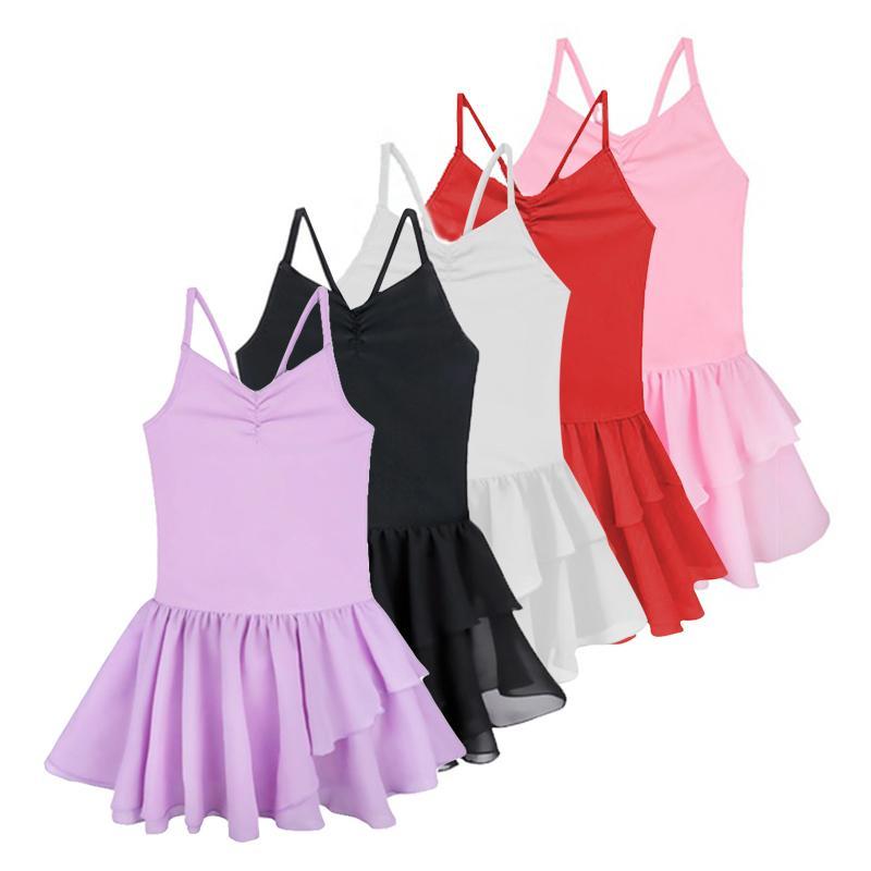 051d8182c Compre Crianças Roupas Meninas Ballet Tutu Vestido Infantil Ballet Vestido  Traje Spaghetti Strap Ginástica Collant Dança Vestidos De Blueberry15