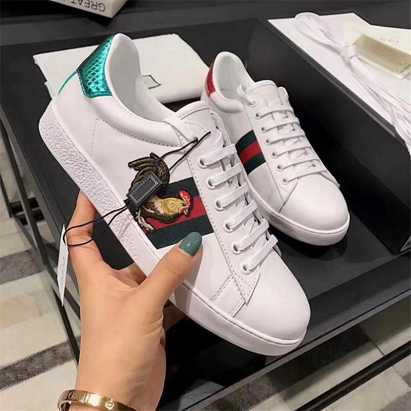 ae750fd1a Noble De Lujo Diseñador Hombres Mujeres Zapatillas De Deporte Zapatos  Casuales De Calidad Superior De Cuero Real Decoración De La Mariposa  Zapatillas De ...
