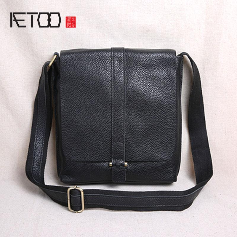 c77b132c3fd AETOO New Clamshell Tide Layer Cowhide Backpack Cross Section Shoulder Bag  Men S Messenger Bag Casual Leather Men Hobo Purses Ladies Purses From  Kendymade, ...
