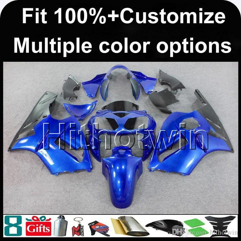 23colors+8Gifts Injection mold blue motorcycle cover ABS Fairing For Kawasaki ZX12R 02-06 ZX-12R 2002 2006 ZX 12R Motorcycle Body Kit