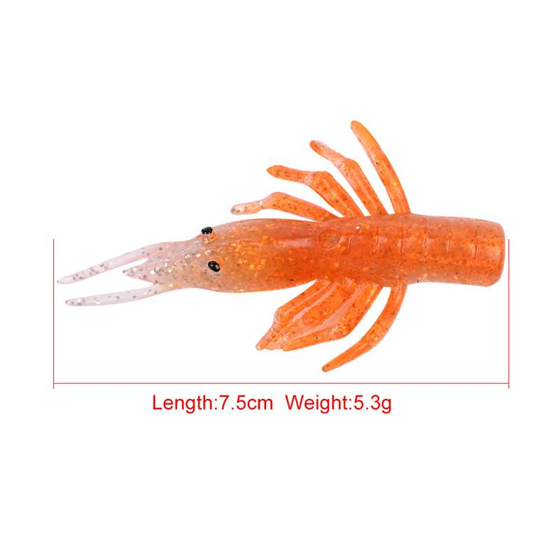 Soft silicone Minnow Shrimp Grub Fishing bait with hook or without hook 8.5cm-13g 7.5cm-5.3g Soft fish lure set