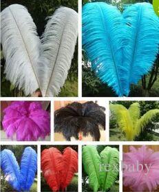 Высокое качество красивое страусиное перо 40-45см / 16-18 дюймов U выбрать цвет свадьбы центральным декор