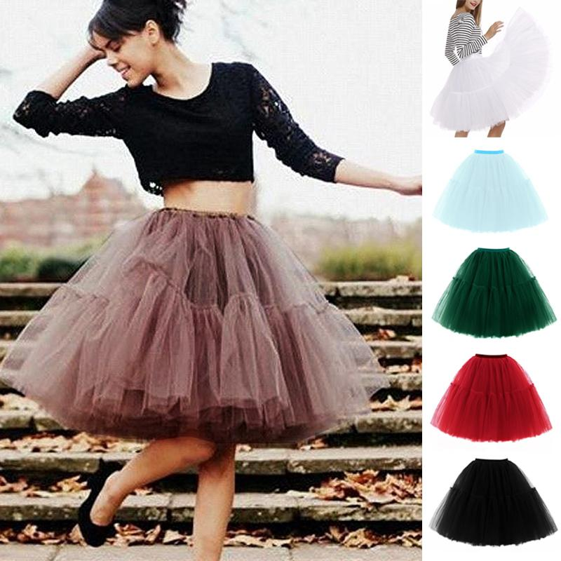 690af262866 2019 New Fashion Midi Tulle Skirts High And Elastic Waist Younger Tutu  Skirts Classical Lolita Style High Waist Female Party From Genguo, $27.43 |  DHgate.