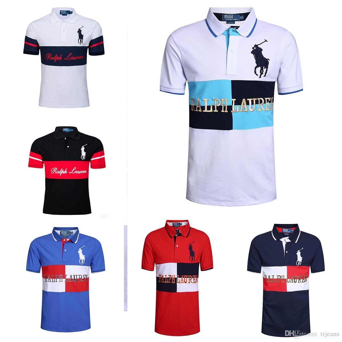 Wholesale Summer Men Polo Shirt Short Sleeve Polos 100 Cotton