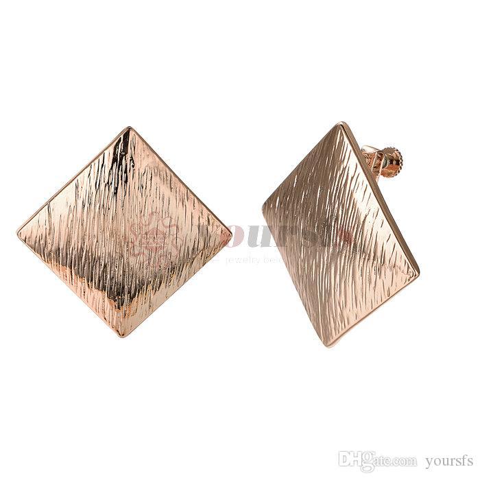 d521f405d4e0 Compre Yoursfs Clip En Pendientes Para Mujeres Mental 18K Rose   Oro Blanco  Plateado Orejas No Perforadas A  12.86 Del Yoursfs