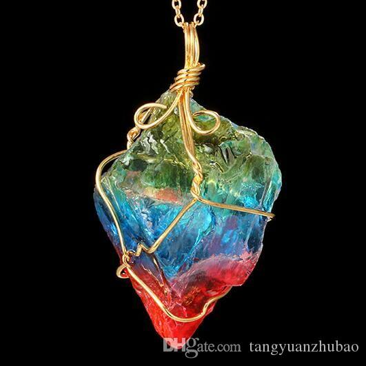 2018 quartz crystal necklace pendant unground newest women and men 2018 quartz crystal necklace pendant unground newest women and men pendant for necklaces personality chakra bead gemstone crystal healing point from aloadofball Image collections