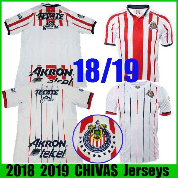 0a6d067e7 2019 2018 2019 MX Chivas De Guadalajara Home Away White LOPEZ Soccer Jerseys  18 19 Club Deportivo Camiseta PIZARRO Football Shirt Free DHL From  Soccer shirt ...