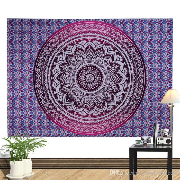 Goblenler Bohemian Mandala Plaj Goblen Hippi Atmak Yoga Mat Havlu 150 * 130 cm Fil Tavuskuşu Şal Banyo Havlusu 20 adet