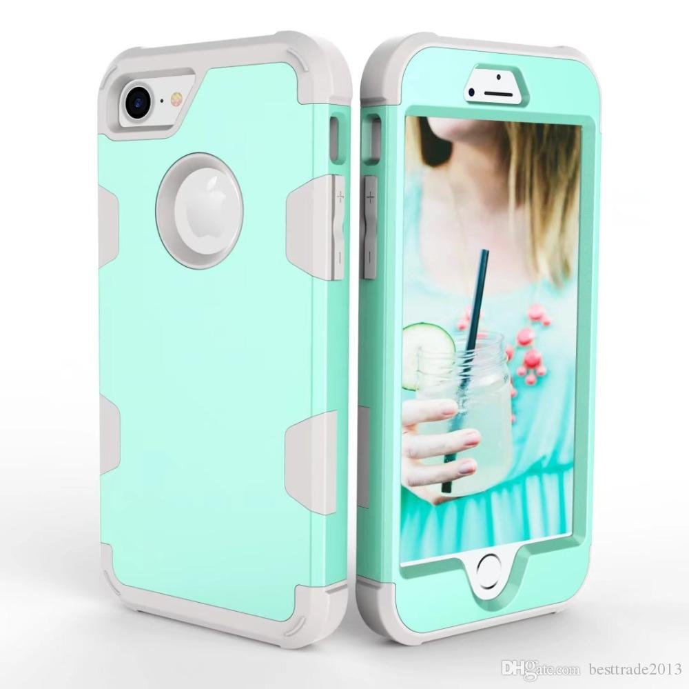 quality design af103 7a5c1 For iPhone 7 Case Robot Shockproof 360 full Protect Cover Hybrid TPU Rubber  Hard Rugged Armor Phone Case For iPhone6 6s 7 8 Plus