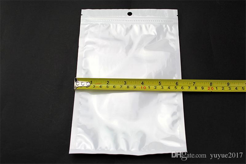 Meilleur Qualité Effacer + blanc perle En Plastique Poly OPP emballage fermeture à glissière Serrure Zip Au Détail Paquets Bijoux alimentaire PVC sac en plastique beaucoup de taille disponible
