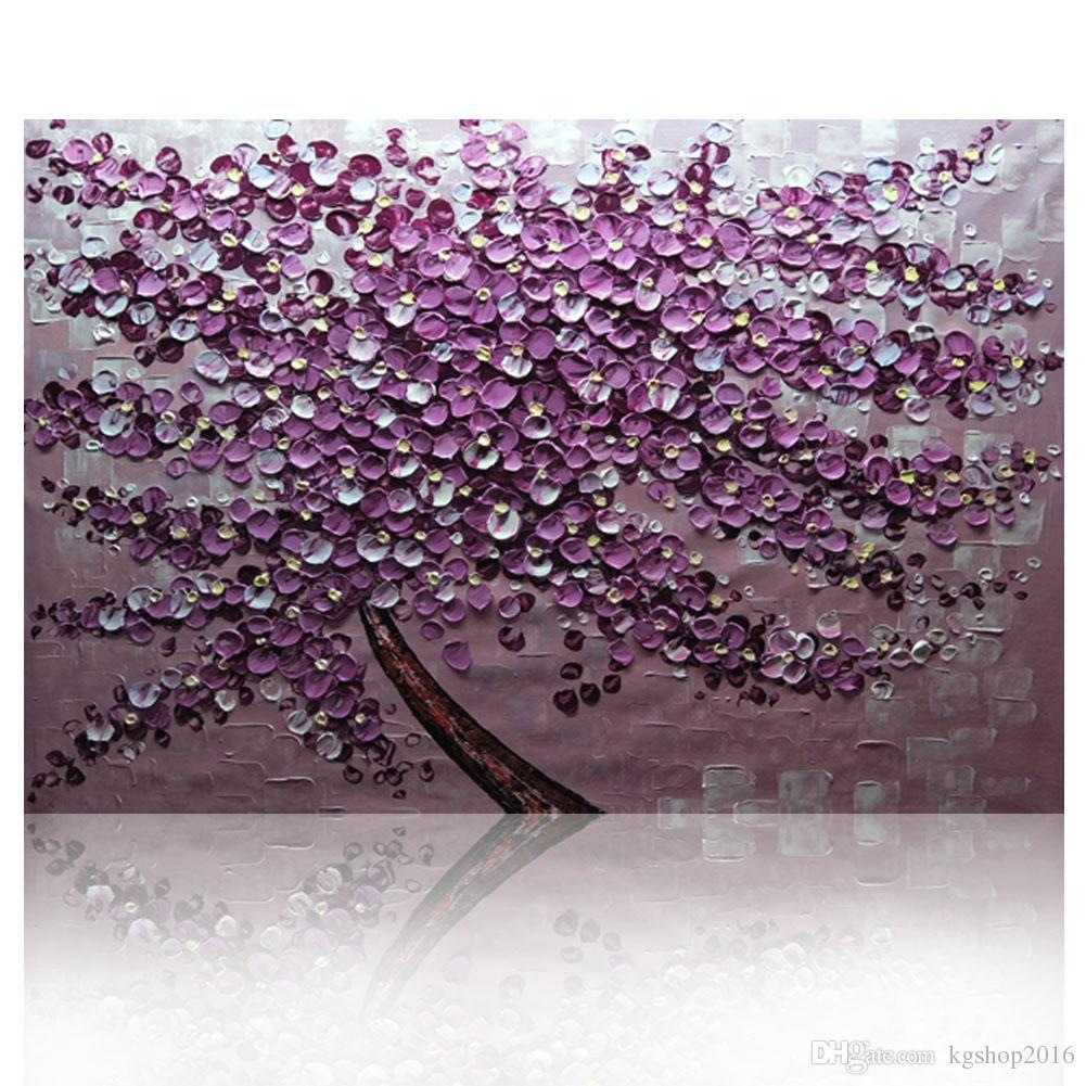acheter kg violet arbre texturé couteau peintures abstraite peinture