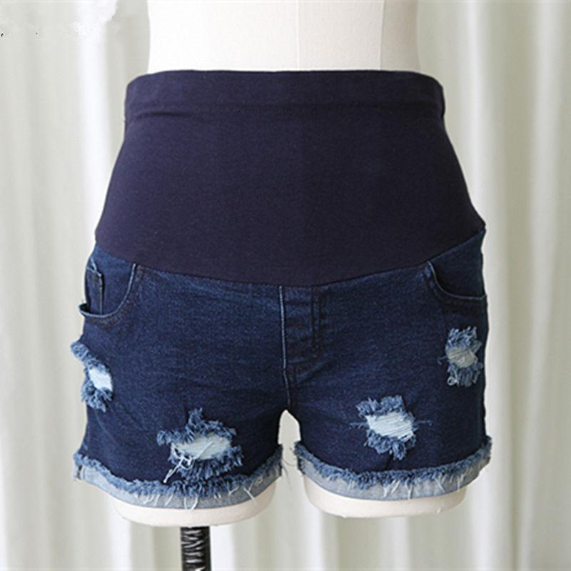 5d04c9270fe Envsoll Fashion Summer Maternity Belly Shorts Elegant Torn Hole ...