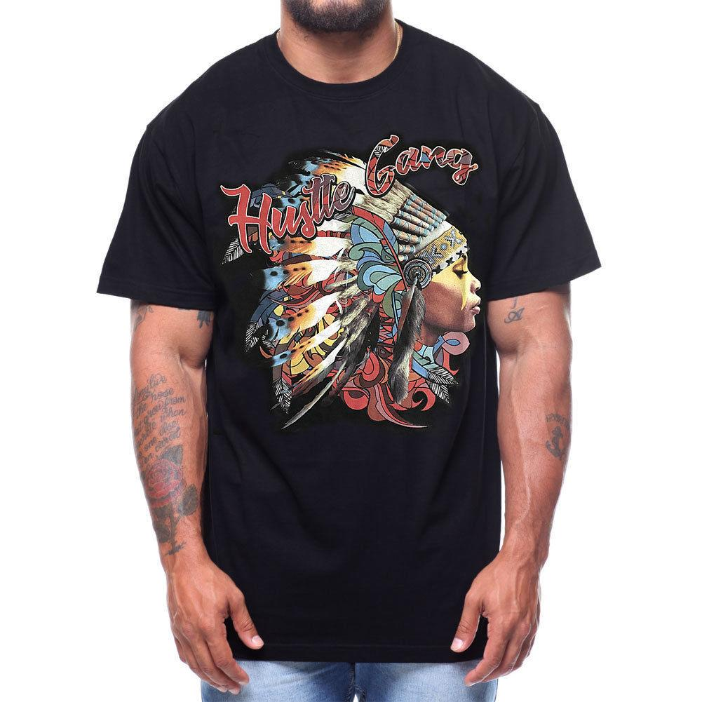 c0114742e3 Hustle Gang Men s Acid Chief T Shirt Black Skate Streetwear Clothing Apparel