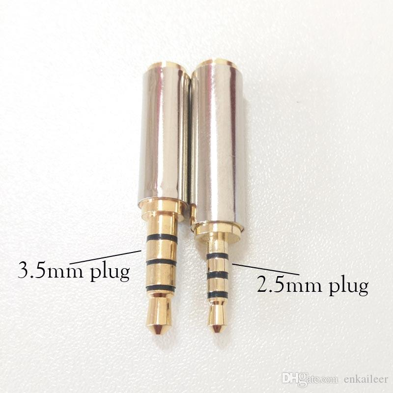 Spina AV da 3.5 mm Spina da maschio a presa da 2.5mm Adattatore da presa audio Jack femmina