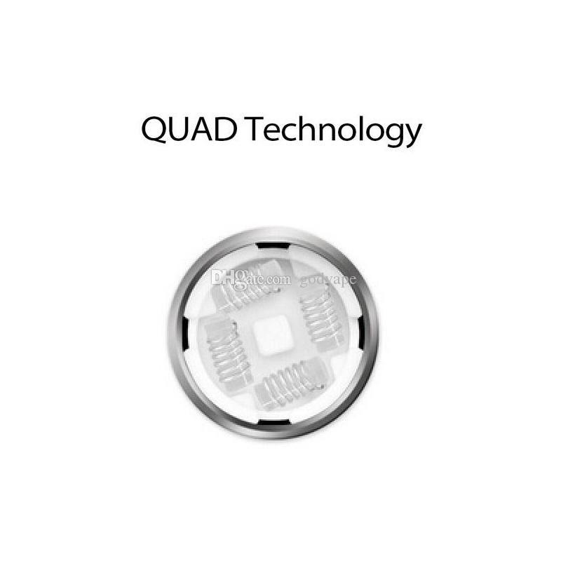 Qualité Yocan Evolve PLUS XL Bobines Quad Pièces De Remplacement De Bobine De Quartz Wax Dry Herb Vaporisateur Pour Yocan Evolve PLUS XL Batterie Starter Kits