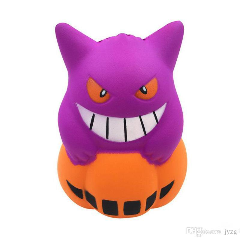 halloween squishy new demon pu simulation 12cm pumpkin ice cream squishy slow rising squeeze toys decompression kids toy cartoon novelty toy hallowmas