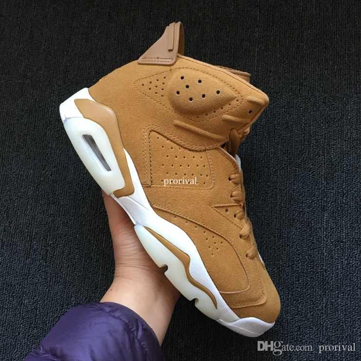 2018 Golden Harvest Wheat 6 VI Zapatillas de baloncesto para hombres, mujeres, 6s Deportes para hombre Baloncesto Zapatillas de deporte Zapatillas Zapatillas Tamaño 36-47