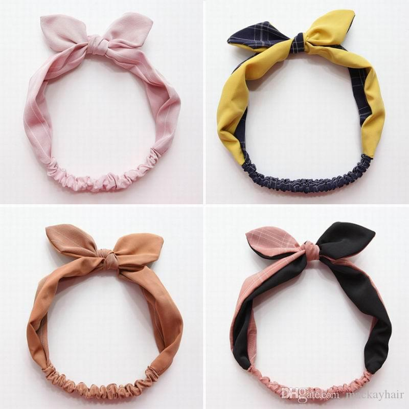 Fashion Kids Baby Female Solid Color Bow Hair Rope Rubber Band Girl Apron Rubber Band Tiara Hair Accessories Hair Ring Girl's Accessories