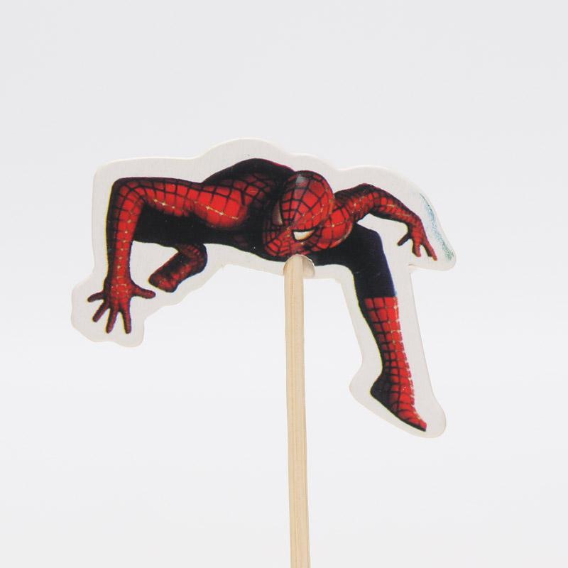 24 adet / grup örümcek Adam cupcake topper seçtikleri çocuk parti dekorasyon çocuk doğum günü partisi Spiderman dekorasyon kek topper