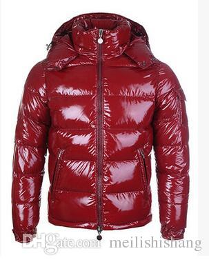 HOT Brand Men Casual shiny Down Jacket Down Coats Mens Outdoor Fur Collar Warm Man Winter Thick warm Coat outwear jackets parkas