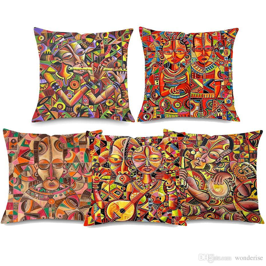 11 Styles Traditional Cameroon People Cushion Covers African Queen ...