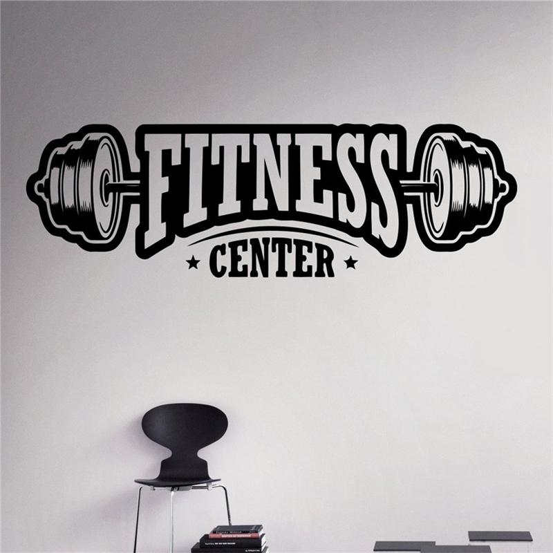 fitness center wall decal workout gym vinyl sticker healthy