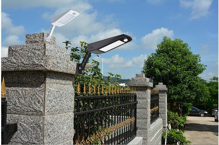 6.8W 48 LED 태양 빛, Mulcolor 야외 무선 솔라 정원, 안뜰 및 통로 지능형 모드와 벽 빛 램프를 구동