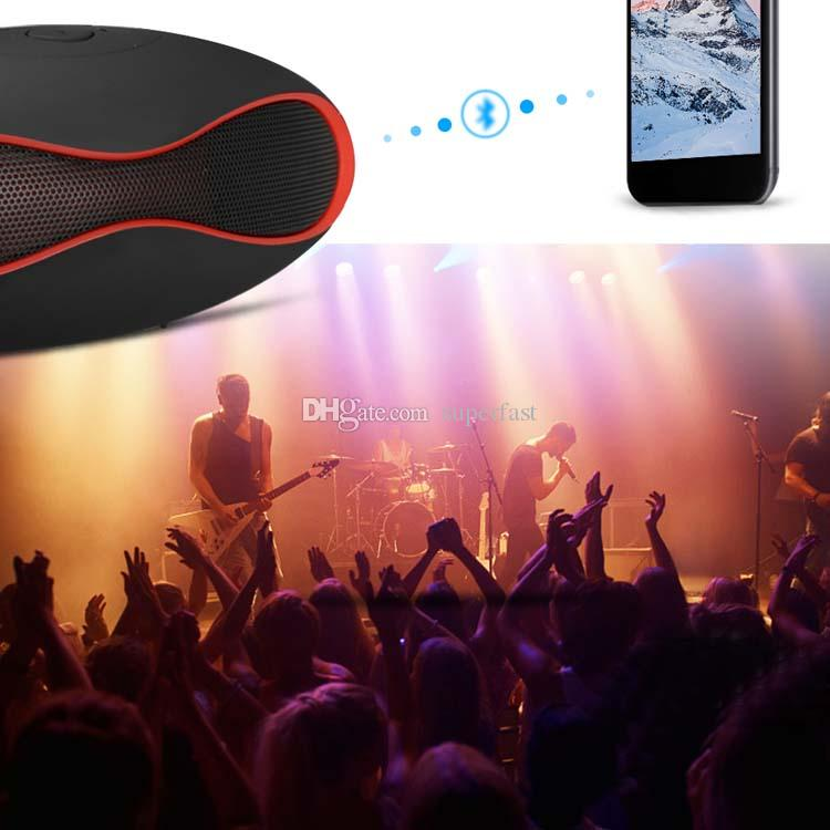 Mini X6 Rugby Bluetooth Speaker X6u Portable Wireless Stereo Speakers X6U Hands-free V3.0 Audio MP3 Player Subwoofer With U Disk TF Card
