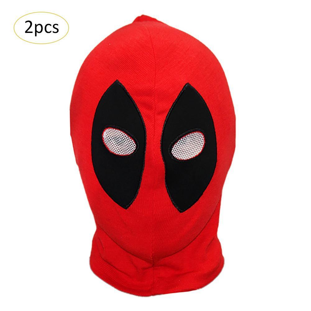 Satın Al 2 Adet Deadpool Maskeleri Süper Kahraman Cadılar Bayramı