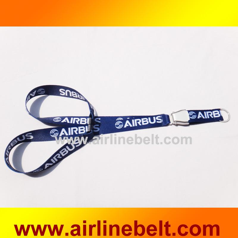 AIRBUS Boeing logo airline Brand aircraft airplane seat belt buckle lanyards Pilot ID badge strap flying keychain shipping free