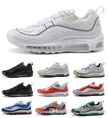 98 Air Schuhe Gundam OG Marke 98 QS stricken Frauen Turnschuhe Herren Laufschuhe Designer Schuhe Athletic Trainers Wandern Joggen Outdoor Sportarten