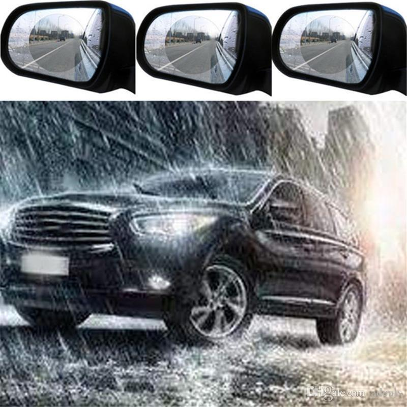 2Pcs Car Rearview Mirror Protective Film Anti Fog Membrane Anti-glare Waterproof Motorcycle Window Rainproof Auto Clear Sticker