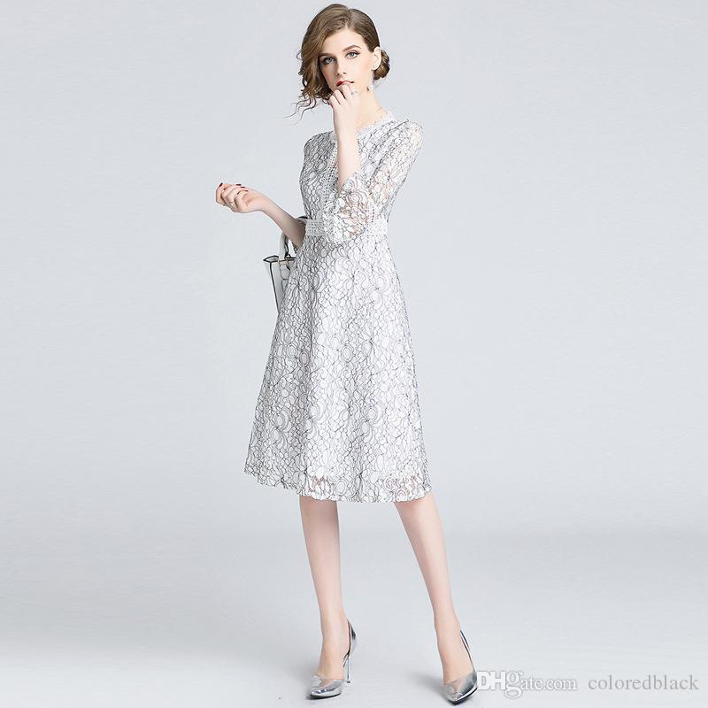 0567bf1f569 2019 European And American Autumn Dresses Women Party Dress For Girls With  Lace Fashion And Personalized Dresses From Coloredblack