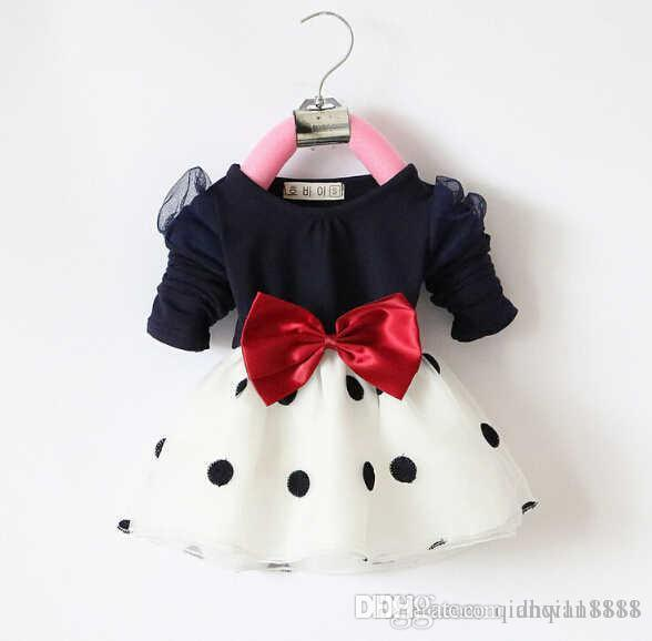 2016 new style girl's dress children's clothing 2-7 years kid's dress 6pcs/lot one lot have size 2-7 each size free shipping