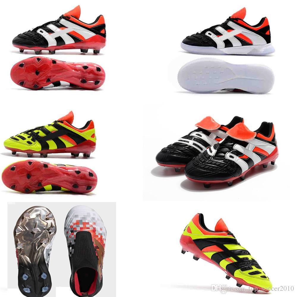 fc96d7ae8f9 Original 2018 V SX soccer Shoes Predator Accelerator Electricity 18+x Pogba  FG Accelerator DB Kids Men Mercurial Superfly FG football Cleats