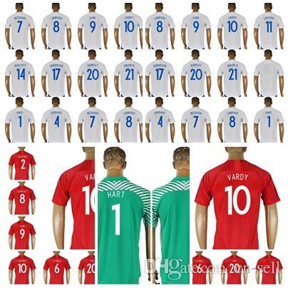 189a7661763 Custom 2018 Eng World Cup Jersey 10 ROONEY KANE BARKLEY STURRIDGE ...